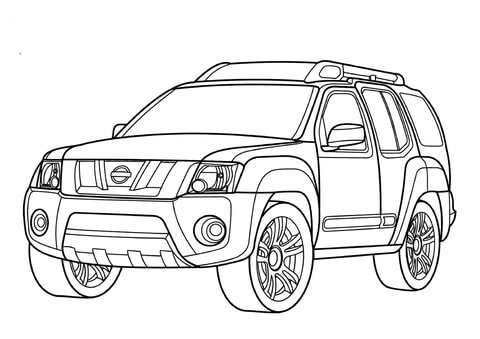 nissan maxima coloring page nissan p17 coloring page