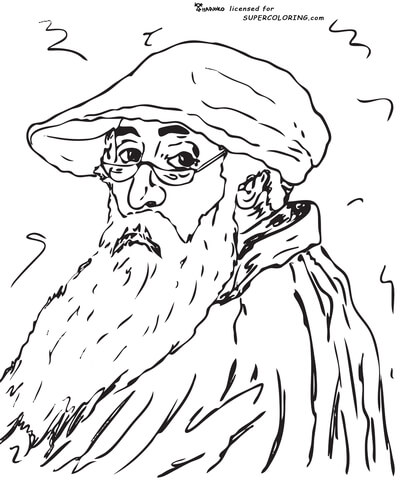 Self Portrait By Camille Pissarro  coloring page