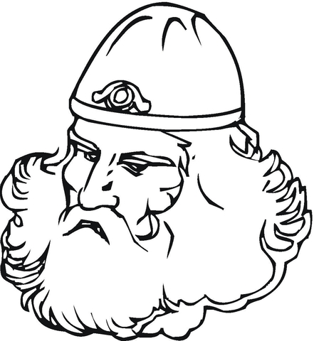 Viking With Big Beard  coloring page