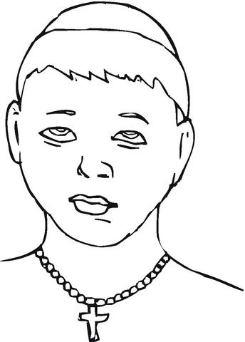 Young Monk  coloring page