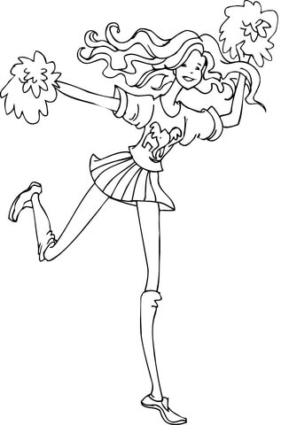 A Republican Cheerleader coloring page