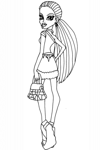 Abbey Bominable Scaris coloring page