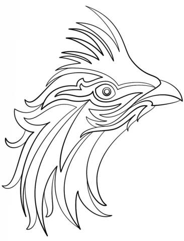Abstract Bird coloring page