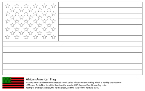 African America Flag coloring page