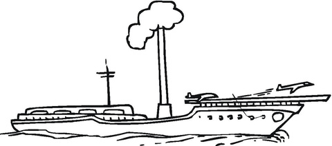 Aircraft Carrier  coloring page