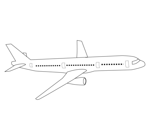 Airliner coloring page