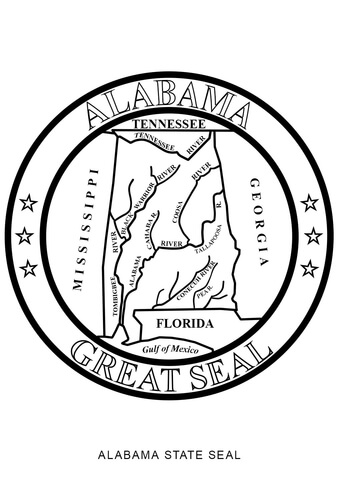 Alabama State Seal coloring page