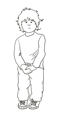 Alexander and the Terrible Horrible no Good coloring page