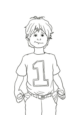 Alexander and the Terrible Horrible no Good Very Bad Day coloring page