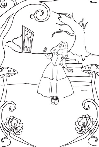 Mad Hatter coloring page - Free Printable Coloring Pages