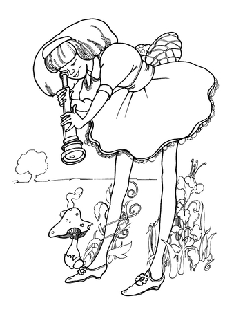 Alice Just Woke Up coloring page - Free Printable Coloring Pages