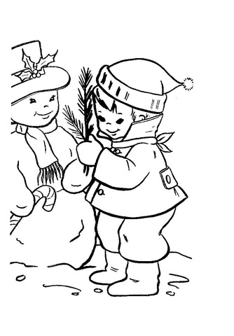 Boy Dressed Up For The Christmas Season  coloring page