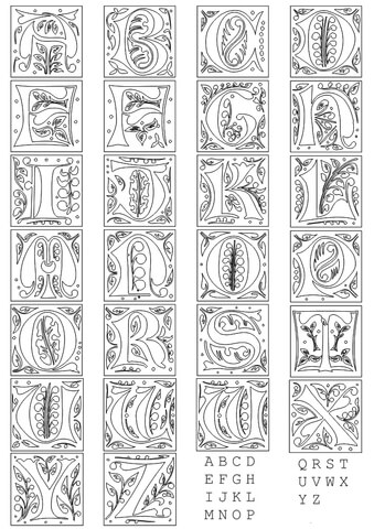 Full alphabet worksheet 1 coloring page