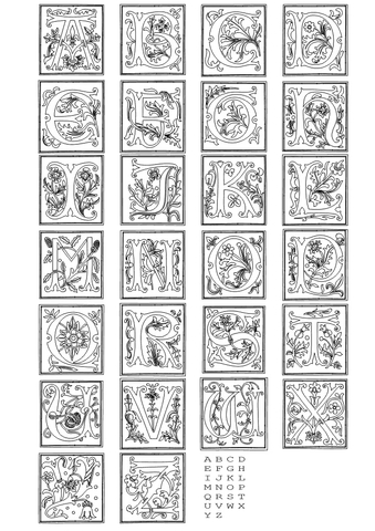 Full alphabet worksheet  2 coloring page