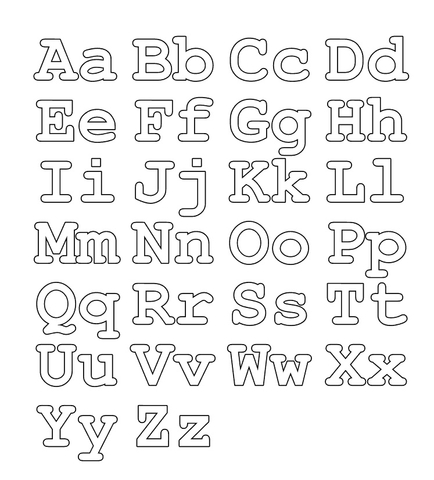 Full alphabet worksheet  (Capital and small letters) coloring page