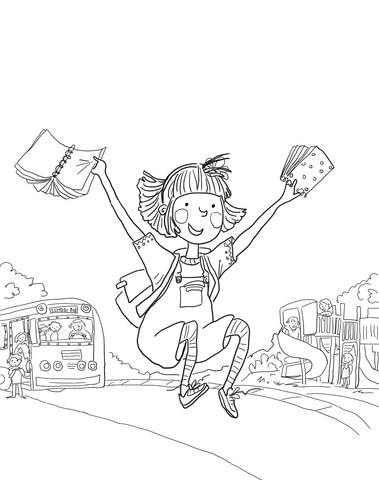 Amelia Bedelia First Day of School coloring page