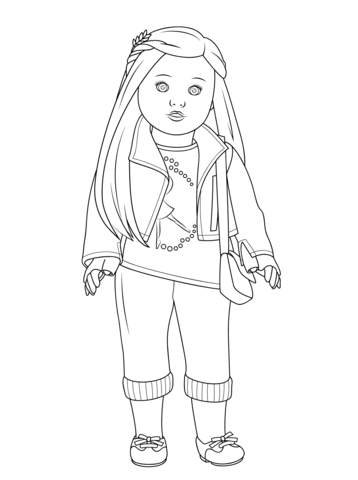 American Girl Isabelle Doll coloring page