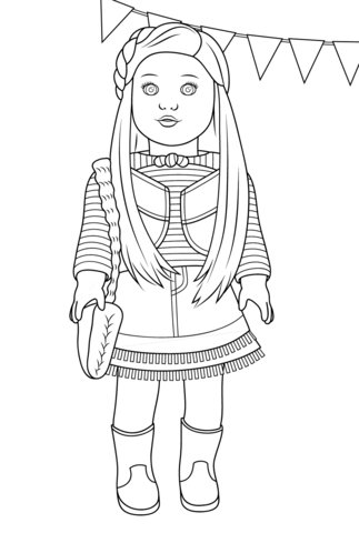 American Girl Mckenna coloring page