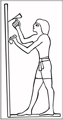 Ancient Egyptian Worker  coloring page