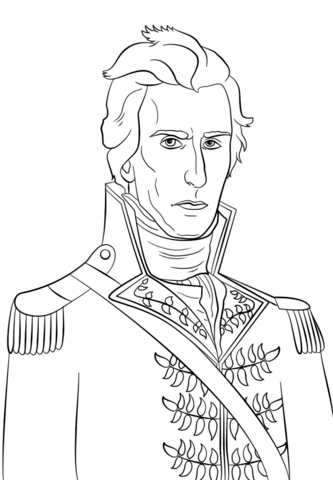 cesar chavez coloring page president andrew jackson coloring page