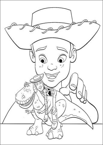 Andy Davis And His Toys  coloring page