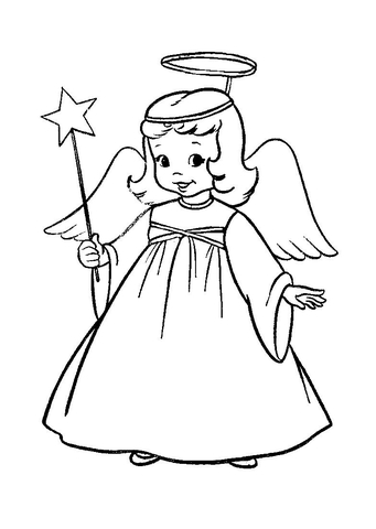Angel In Christmas Play  coloring page
