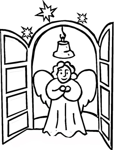 Angel in Church  coloring page