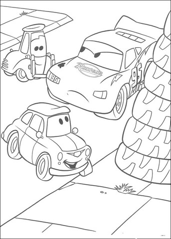 Angry McQueen coloring page
