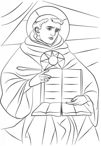 Saint Thomas Aquinas coloring page - Free Printable Coloring Pages