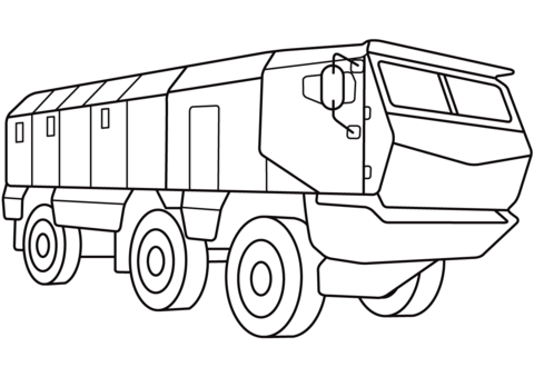 Military Hummer Humvee Coloring Page Free Printable Coloring Pages