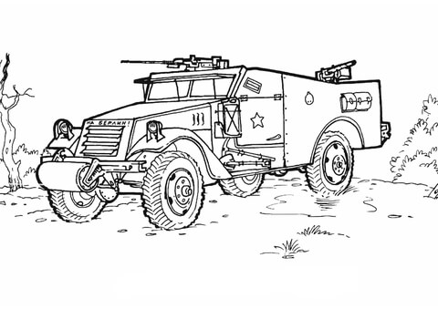 Armoured Personnel Carrier  coloring page