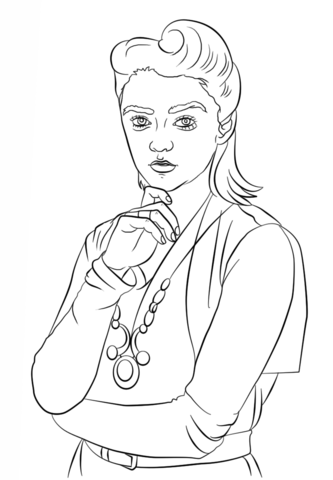 Ashildr from Doctor Who coloring page