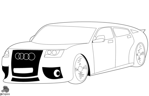 Audi Car coloring page