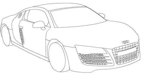 Audi R8 coloring page