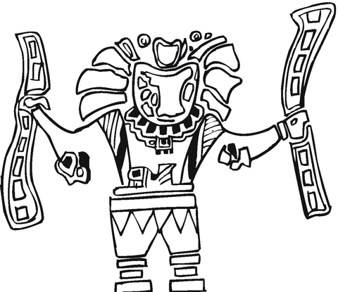 Aztec Art  coloring page