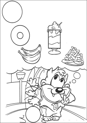 Baby Taz  coloring page