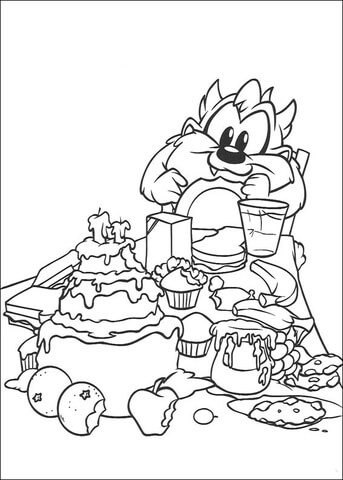 Baby Taz Coloring Page Free Printable Coloring Pages - Taz-cartoon-coloring-pages
