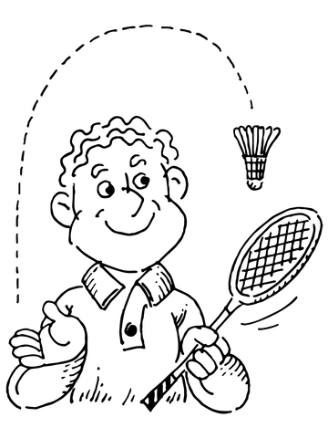 Badminton Player coloring page