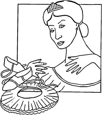 Ballet Slippers  coloring page