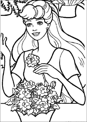 Barbie 1 coloring page