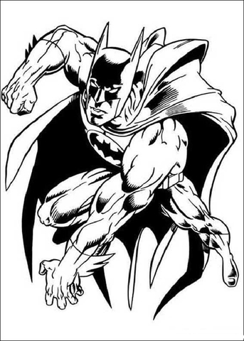 Batman Hero  coloring page