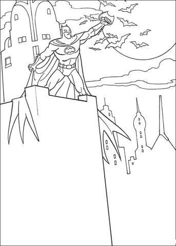 Dark moon rising coloring page