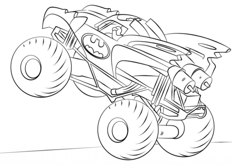 Batman Monster Truck coloring page - Free Printable Coloring Pages