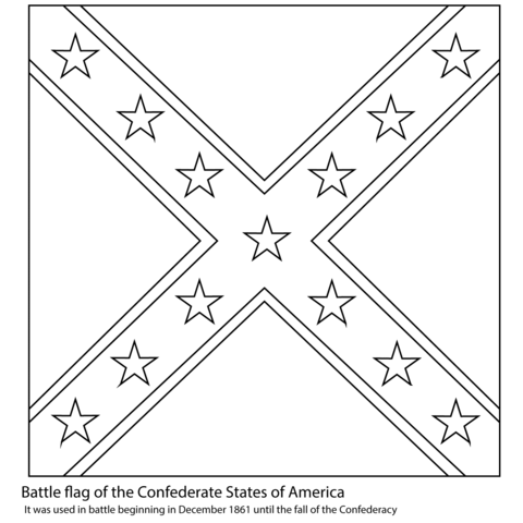Battle Flag of The Confederate States of America coloring page