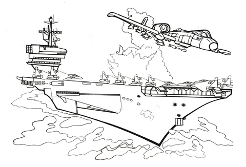 image relating to Printable Battleship named Battleship Crashed coloring web site - No cost Printable Coloring Web pages