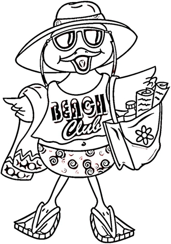Beach Bird  coloring page