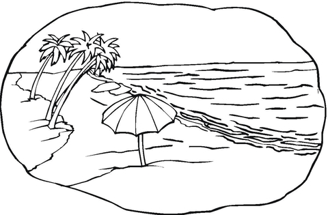 Beach Scene  coloring page