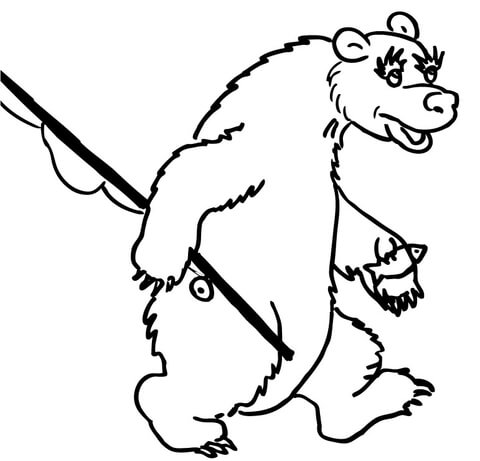 Bear Fisher  coloring page