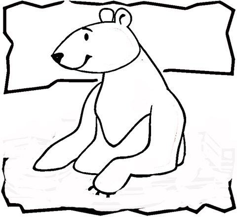 Bear From North Pole  Coloring page