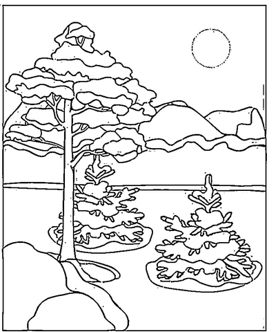 Canadian Winter  coloring page